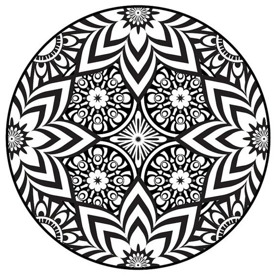 Pages De Coloriage Mandalas Mandalas And Coloriage On Pinterest