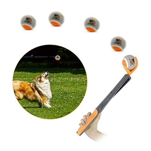 All For Paws Outdoor Retractable Ball Thrower Dog Toy Ball