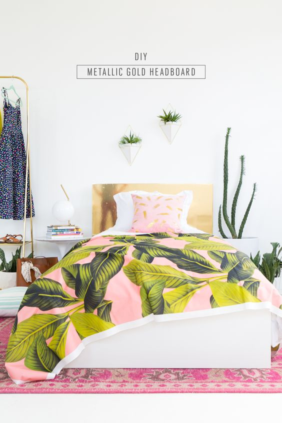 DIY Faux Brass Headboard (+ our LOCAL Magazine Feature!) | Sugar & Cloth