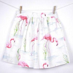 les petites jupes de prune imprim flamant rose