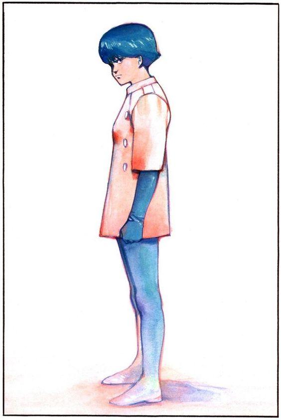 大友克洋「AKIRA」のイラスト少年)