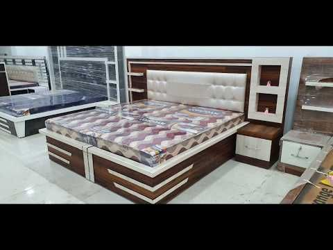 Latest Wooden Beds Designs Feburary 2020 Youtube Plywood Bed Designs Wooden Bed Design Bed Design Modern