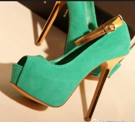 Mint green heels | Love Heels | Pinterest | Mint green, Gold heels ...