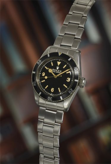 "Rare Rolex Submariner Ref. 6200 ""Big Crown"" with Explorer Dial, 1954"