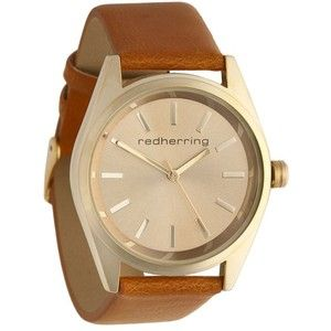Womens tan essential buckled strap watch - Red Herring - Polyvore