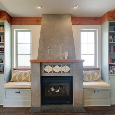 Window Seats The O Jays And Fireplaces On Pinterest