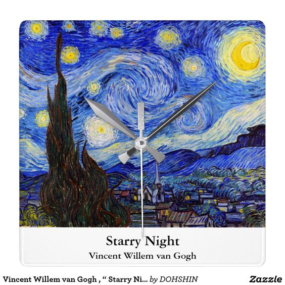 "Vincent Willem van Gogh , "" Starry Night "" クロック"