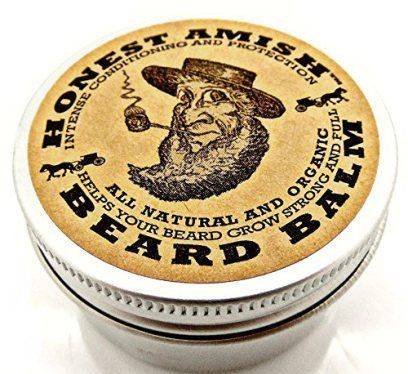 Honest Amish Beard Balm Leave-in Conditioner - All Natural -Vegan Friendly Organic Oils and Butters   Great stocking stuffer idea for men this Christmas! Under $15 too!