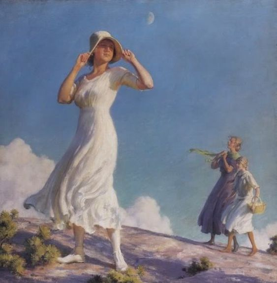 Ladies on a Hill by Charles Courtney Curran: