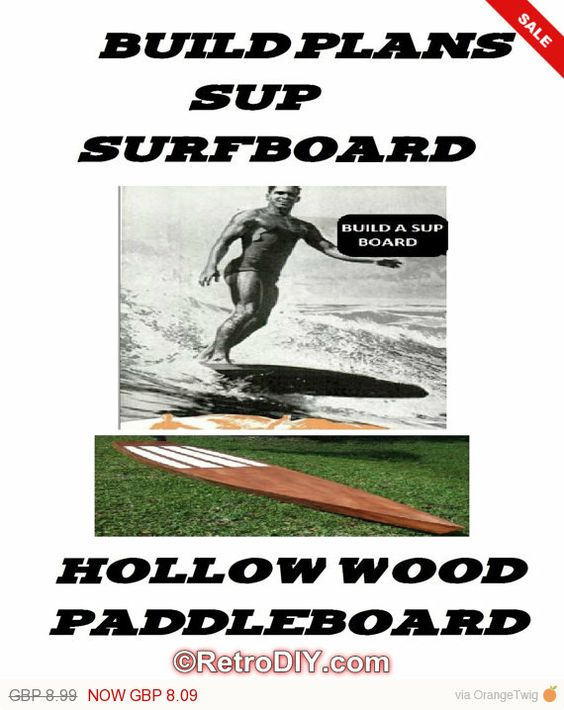 Build your very own SUP - Stand Up Paddleboard - Hollow wood surfboard  #SURF    SUP boards can be very beautiful but also very expensive, as much as £600 or MORE!  THIS IS TO MUCH!    Our ethos is take something that is expensive to buy, but cheap to build if you know how,  and we show you how! its that simple!    This data disc contains pdf e-books on how to design,   construct and finish a hollow wood paddleboard of any size for any age.    The disc contains build plans for 4 completely…