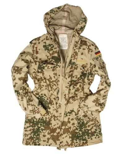 Original-german-army-combat-jacket-parka-desert-tropical-camo-flecktarn-Size-2-S