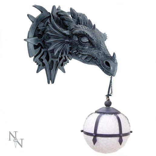 Nemesis Now Gothic Dragon Wall Light 40 Cm Dragon Head Fantasy