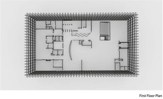 Hunt Library Addition: First Floor Plan Draft #kerrianfrance #48105-S15