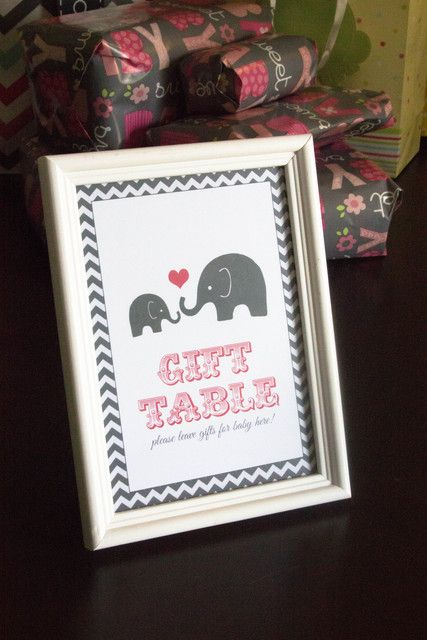 Elephants Baby Shower Party Ideas Table Signs Tables