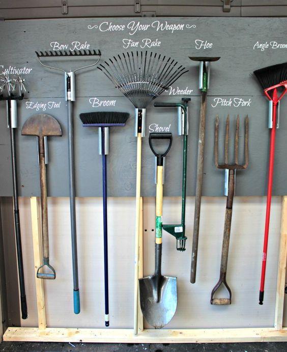 Garden Tool Storage, Best Way To Hang Garden Tools In Shed
