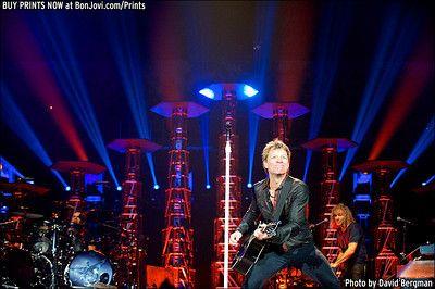 Photo © 2013 David Bergman / www.BonJovi.com/prints -- Bon Jovi performs at the AT&T Center in San Antonio, TX on October 15, 2013.