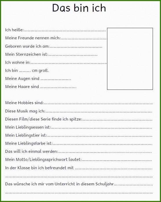 Steckbrief Fur Die Vorstellung Im Kindergarten Vordruck 4