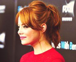 Emma Stone, cute hair