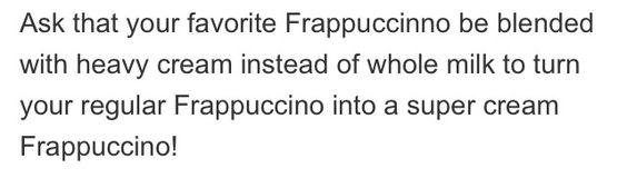 Starbucks Secret Frappuccinos