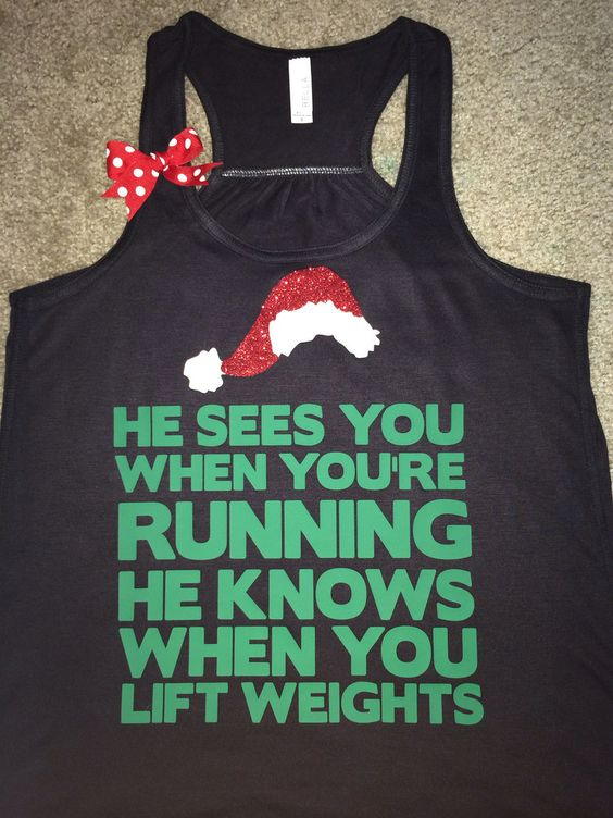 Fitness workout clothing more holiday workout christmas workout funny
