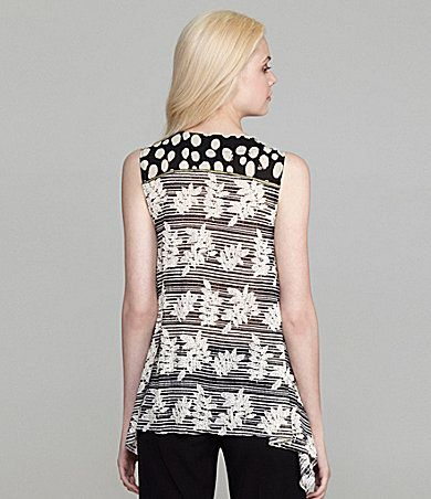Anac Designed by Kimi Mix Print Top | Dillards.com