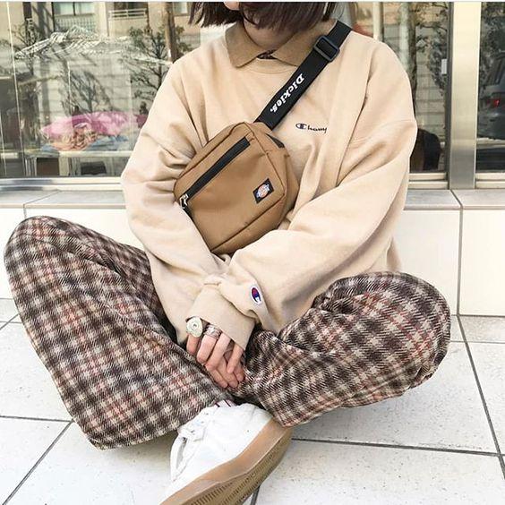 plaid pants dickies brown beige look 20 fall outfit ideas soyvirgo.com