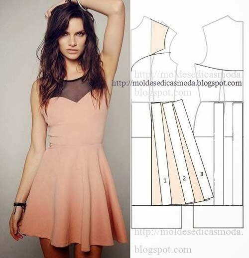 Patrones de vestidos casuales 2015