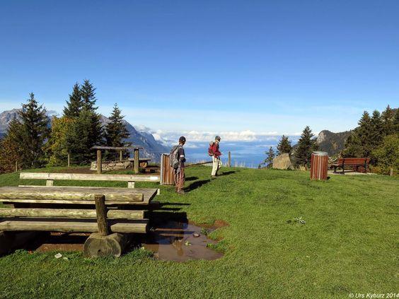 In der Natur unterwegs: Familientrip mit Gipfelsupplement - La Riondaz Grosszügiger Rastplatz #Leysin #wandern #Schweiz