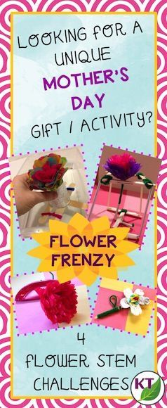 These flowers are more than just a pretty face!  Individually or in partners/groups, students will design and build a uniquely talented bouquet of flowers! This STEM challenge actually contains four challenge prompts that can be taken separately or simultaneously in groups: –	Floating Flowers  –	Fluff & Flatten Flowers  –	Functional Flowers  –	Firmly Fixed Flowers  (modifications included for grades 2 - 8)