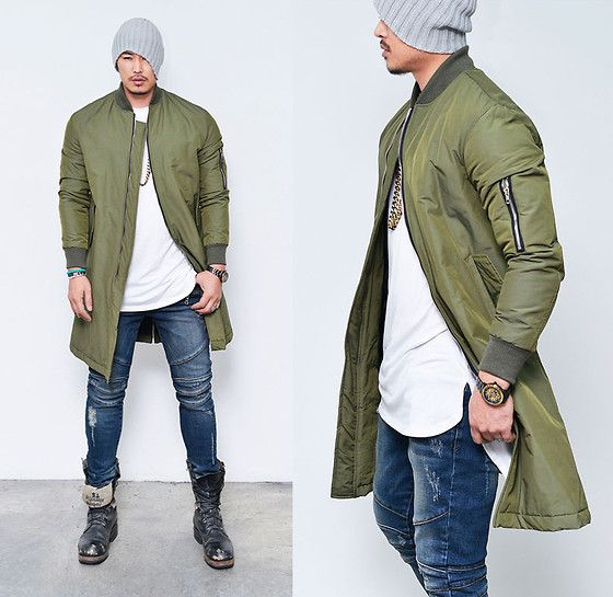 Long Bomber Jacket Mens | Outdoor Jacket
