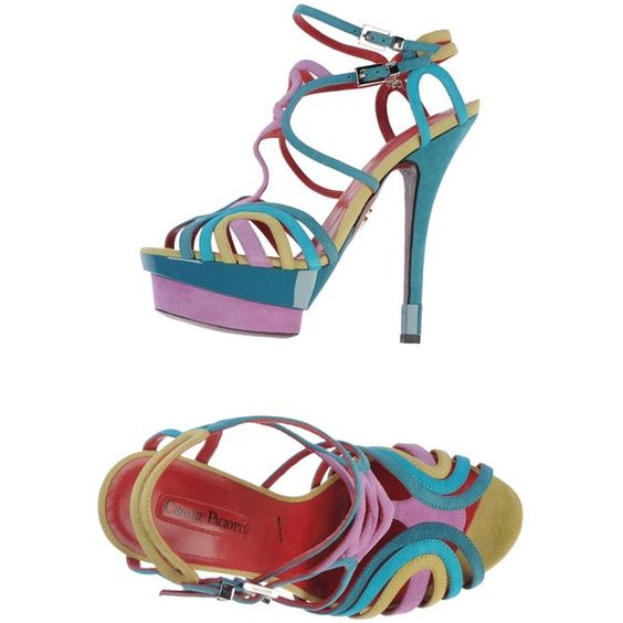 Cesare Paciotti Sandals ($243) ❤ liked on Polyvore