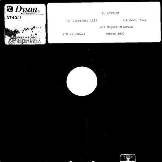 AutoCAD 80 sur disquette souple