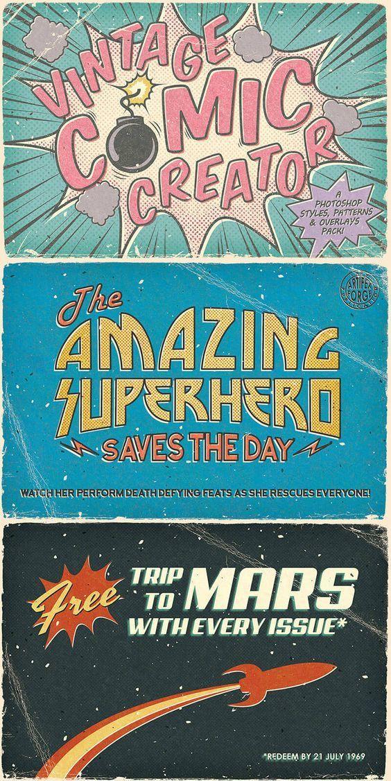 Vintage Comics Retro In 2020 Retro Poster Graphic Design Posters Poster Design
