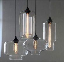 O envio gratuito de New estilo loft industrial americano frasco de vidro luzes pingente para restaurante café bar E27 Edison lâmpada(China (Mainland))