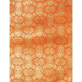 Lokta Far East Gold on Orange Fine Paper