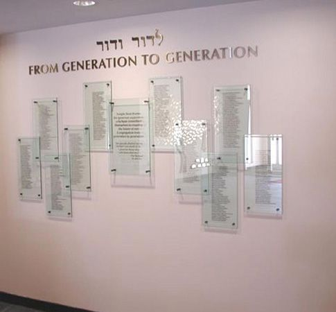 glass donor recognition walls google search