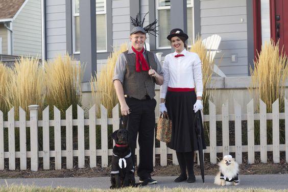 Mary Poppins Halloween Family