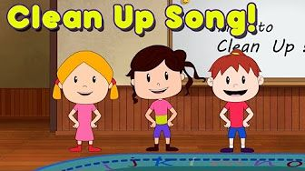 Clean Up Song for Children - Kindergarten and Preschool Song by ELF Learning…