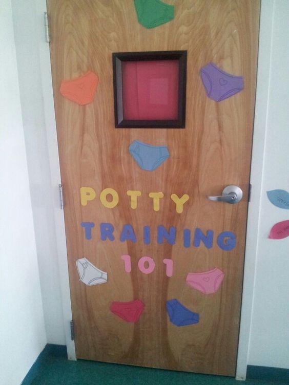 Bathroom doors bathroom and doors on pinterest for Preschool bathroom ideas