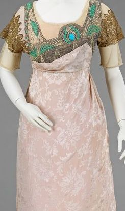 Egyptian revival dress 1900s