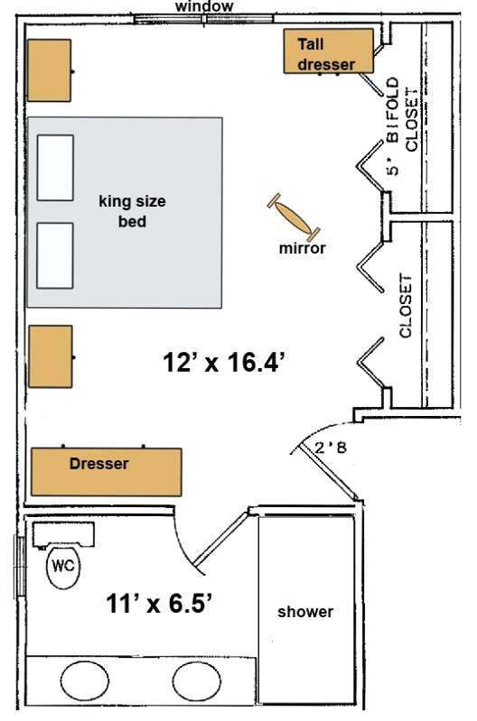 Get Inspired For 15 Small Master Bedroom Layout With Dimensions