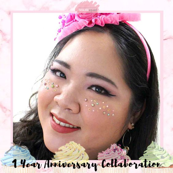 This is the look I created - Pink Festive Birthday Makeup Look <3