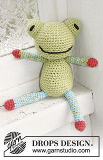 "2000 Free Amigurumi Patterns: Crochet DROPS frog in ""Paris"""