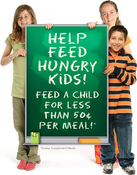Make a Difference in a Child's Life Today...Help us provide 1,000,000 meals to children in need.  Donate 30 meals for only $24 and Visalus will match every donation, meal for meal!  http://dynndrsn.visalusgiving.com/#