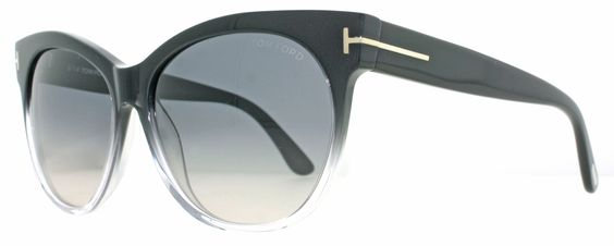 Tom Ford TF 330 Saskia 05B Clear Black Cat Eye Womens Sunglasses - Authenticglasses  More than 55% off Retail Price!