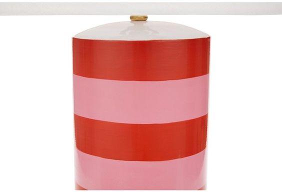Stacked Table Lamp, Pink/Orange
