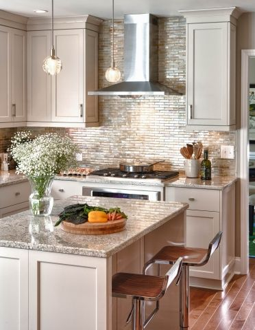 Adding A Large Island In The Kitchen Creates A Wonderful