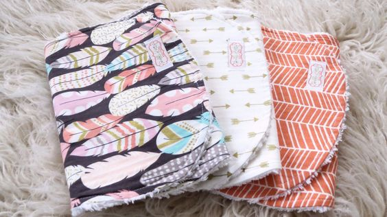 This tribal burp cloth set is perfect for that new baby girl. These bohemian…