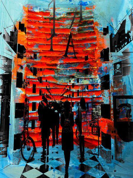 'In the shopping mall' von Gabi Hampe bei artflakes.com als Poster oder Kunstdruck $20.79