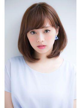 面長さんに似合うヘアスタイル 「ボブ・ミディアム」 , NAVER